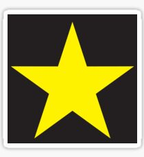 Gold Star on Black-Sticker Only Sticker
