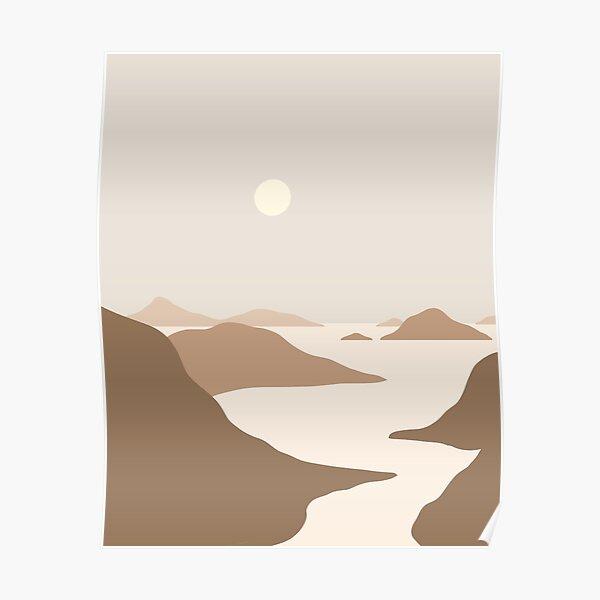 Landscape Neutral tones Poster