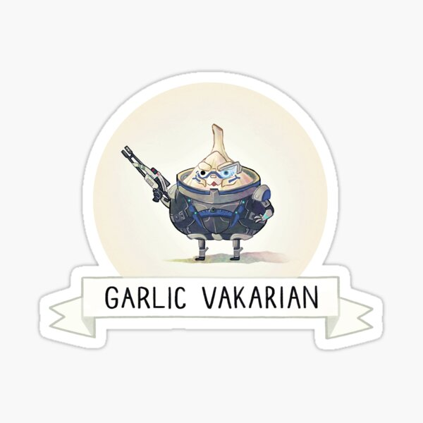 Carb Effect: Garlic Vakarian Sticker