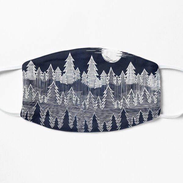Misty Trees Linocut Mask