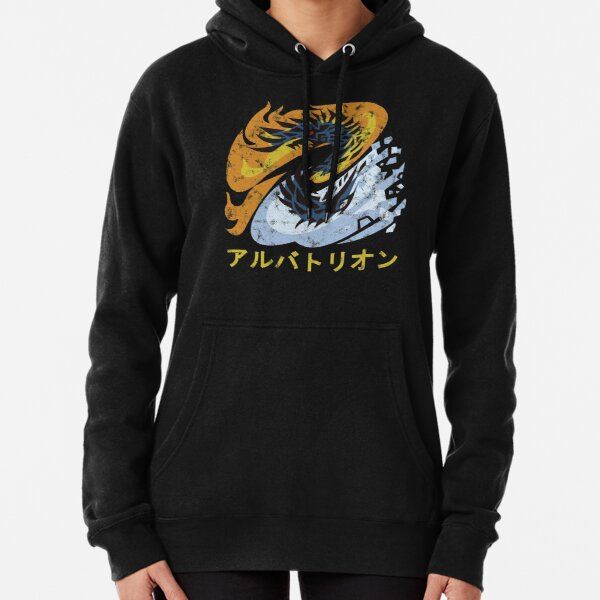 Monster Hunter World Iceborne Alatreon Kanji Pullover Hoodie