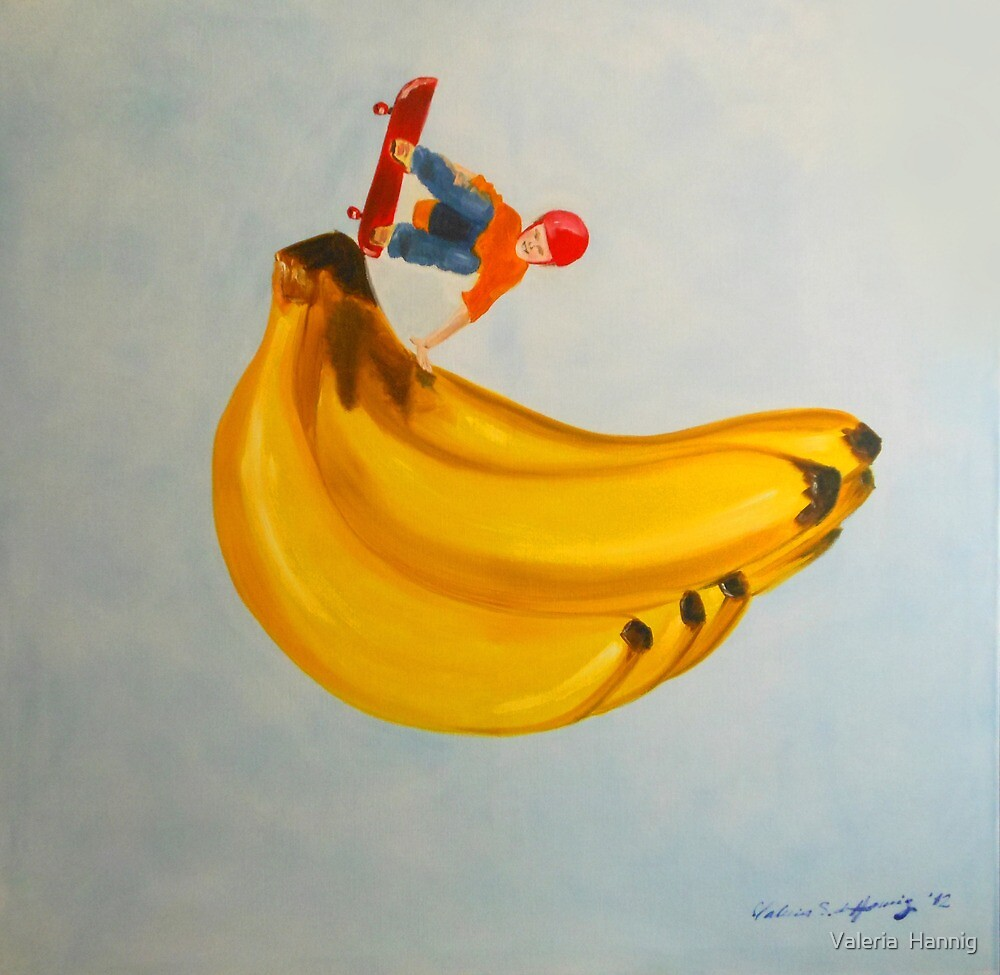 On banana by Valeria  Hannig