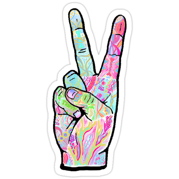 Quot Peace Sign Quot Stickers By Mreedd Redbubble