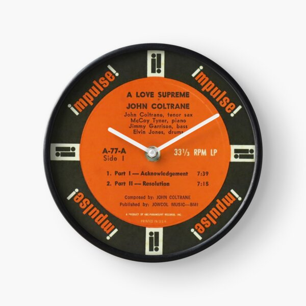 John Coltrane A Love Supreme label Clock