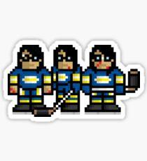 8-Bit Hanson Brothers Sticker Sticker
