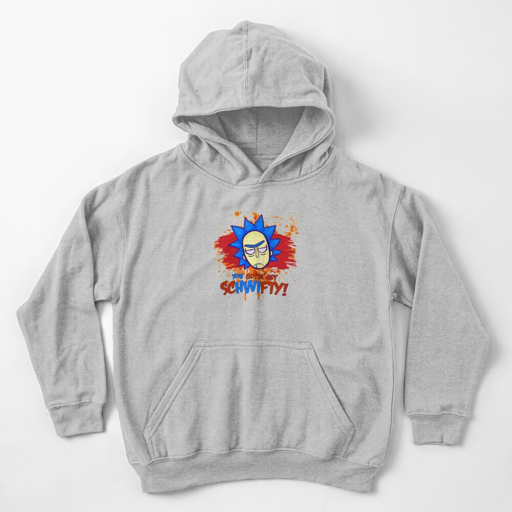 funny get schwifty Kids Pullover Hoodie