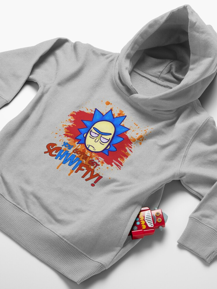 Alternate view of funny get schwifty Toddler Pullover Hoodie