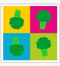 Popart Broccoli Sticker