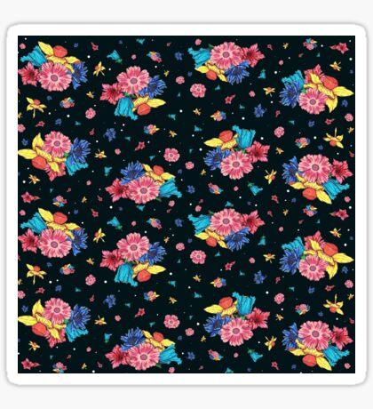 Dark Floral Pattern Sticker