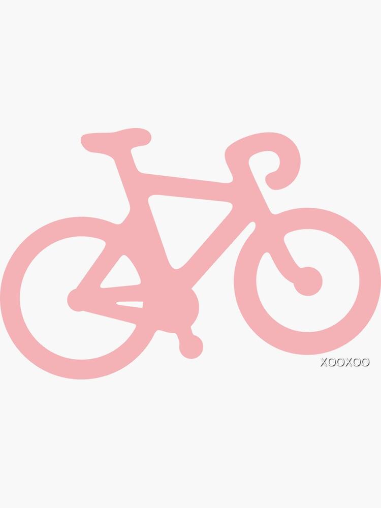 Baby-Rosa-Fahrrad mit Streifen von XOOXOO