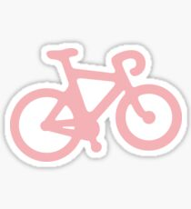 Baby Pink Bike with Stripes Sticker