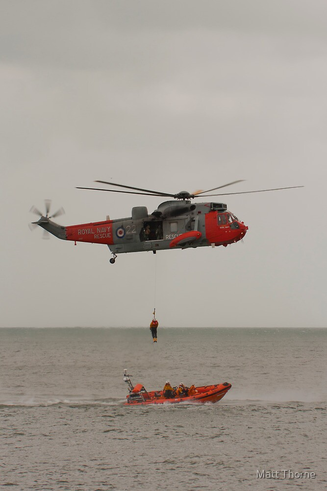 Seaking Helicopter at Dawlish Airshow by Matt Thorne