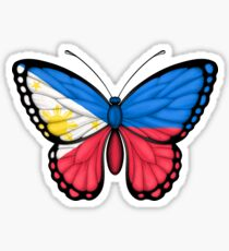 Filipino Flag Butterfly Sticker