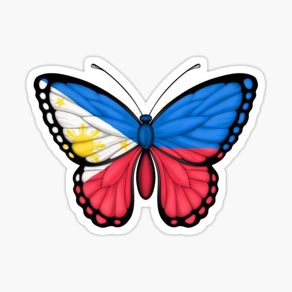 Philippinische Flagge Schmetterling Sticker