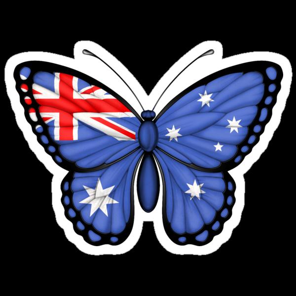 quot australian flag butterfly quot stickers by jeff bartels farfalle adesive per decorare le pareti della cameretta