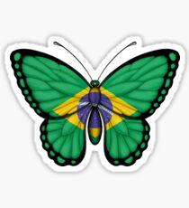 Brazilian Flag Butterfly Sticker