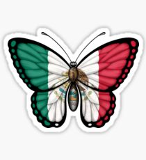 Mexican Flag Butterfly Sticker