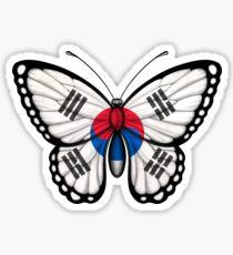 South Korean Flag Butterfly Sticker