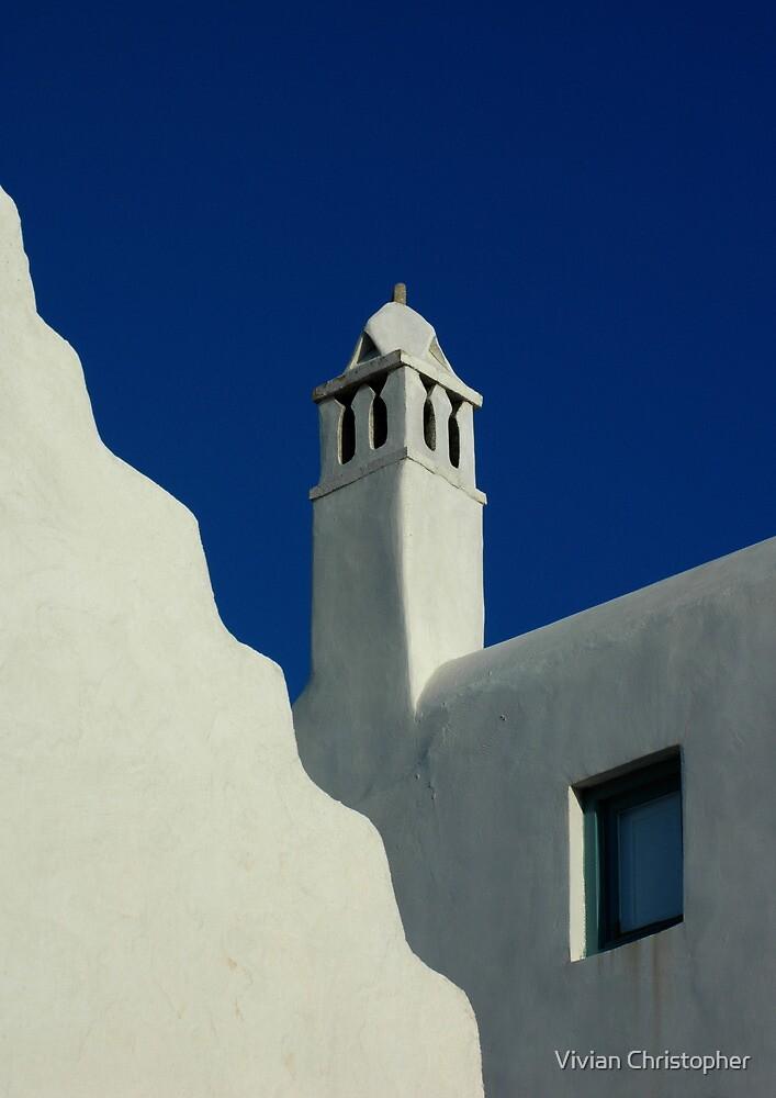 Buildings of Mykonos by Vivian Christopher