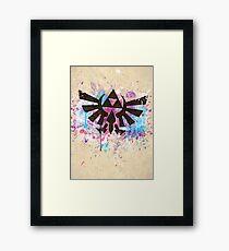 Triforce Emblem Splash Framed Print