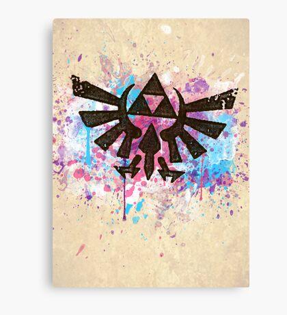 Triforce Emblem Splash Canvas Print