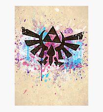 Triforce Emblem Splash Photographic Print