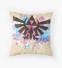 Triforce Emblem Splash Throw Pillow