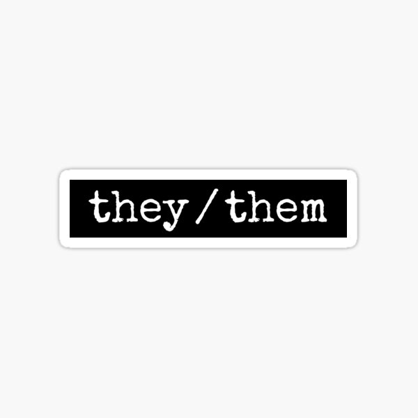 they/them sticker Sticker