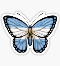Argentinian Flag Butterfly Sticker