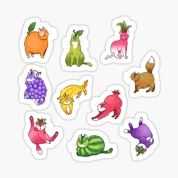 Fruit Cats Sticker
