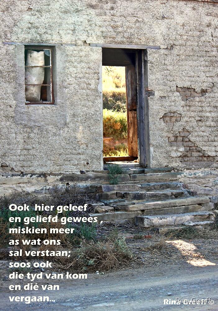 Vergange dae by Rina Greeff