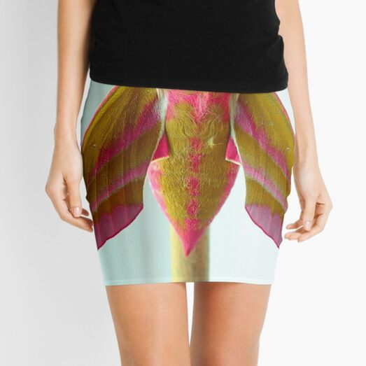 Elephant hawk moth Mini Skirt