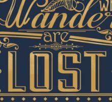 Lost Typography - STICKER (blue) Sticker