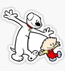 Stewie and Brian (C & H) Sticker