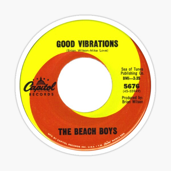 The Beach Boys Good Vibrations label Sticker