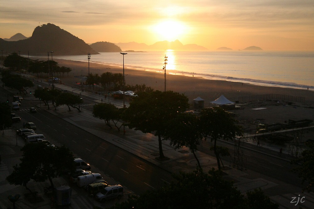 Copacabana Sunrise, Rio de Janeiro Brazil by Zach Chadim