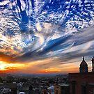 restaurant rooftop sunset by ezdrifter