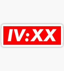 IV:XX Supreme Red Sticker