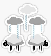 Wooly Weather - Sweater Weather - Sheep Rain Clouds Sticker