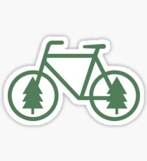 Pacific Northwest Bike - Pine Tree Bicycle - Cycling Sticker