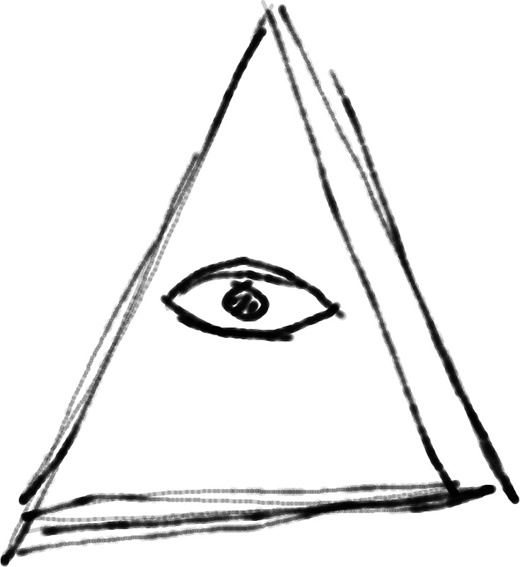 quotdoodle all seeing eye illuminati pyramidquot stickers by