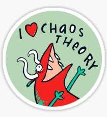 I *heart* Chaos Theory Sticker