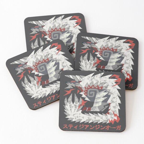 Monster Hunter World Iceborne Stygian Zinogre Kanji Coasters (Set of 4)