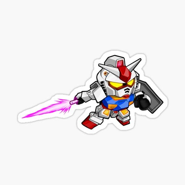 Gundam Wars Monster Hunter Chibi Mobile Suit Crossbone Gundam Mecha Transformers Sticker