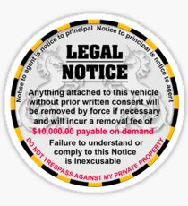 Sticker for your car - No more parking tickets Sticker