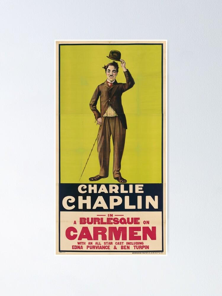 Vista alternativa de Póster Charlie Chaplin Poster - Carmen