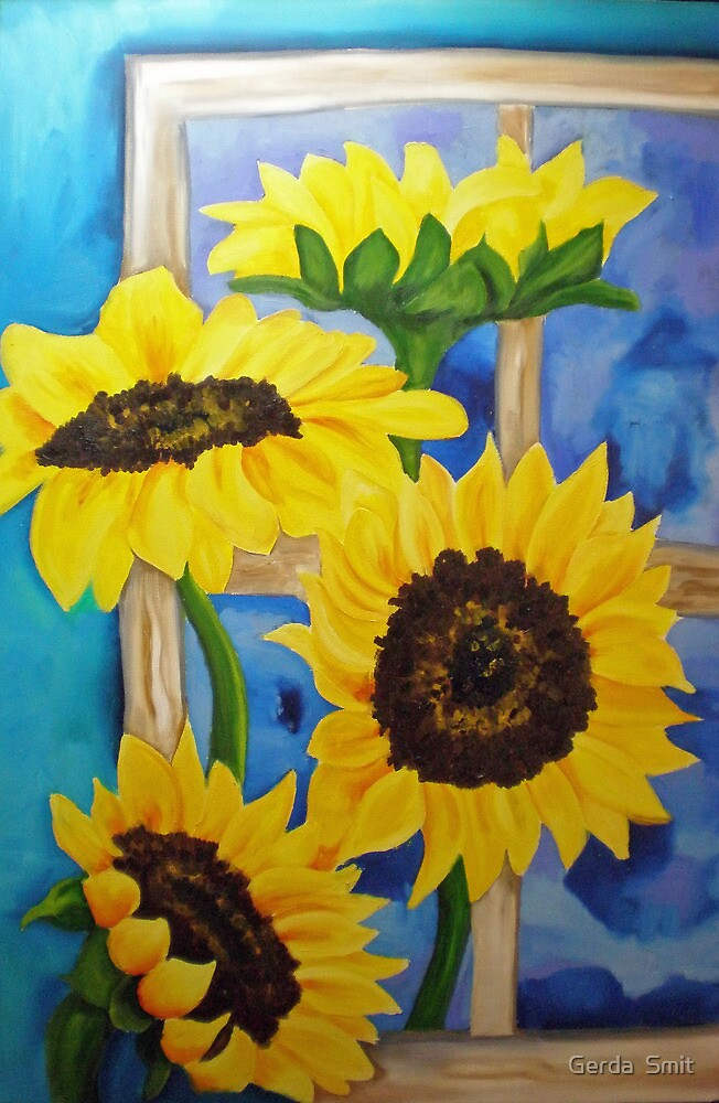 Sunflowers by Gerda  Smit