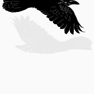 Huginn and Muninn [without runes] by idawgness
