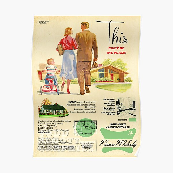 talking heads art aesthetic vintage  Poster