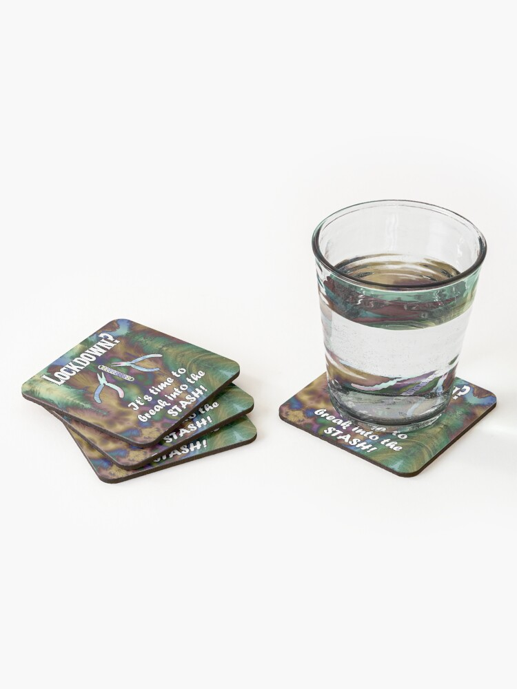 Alternate view of Break Into Your Chainmail Stash Coasters (Set of 4)